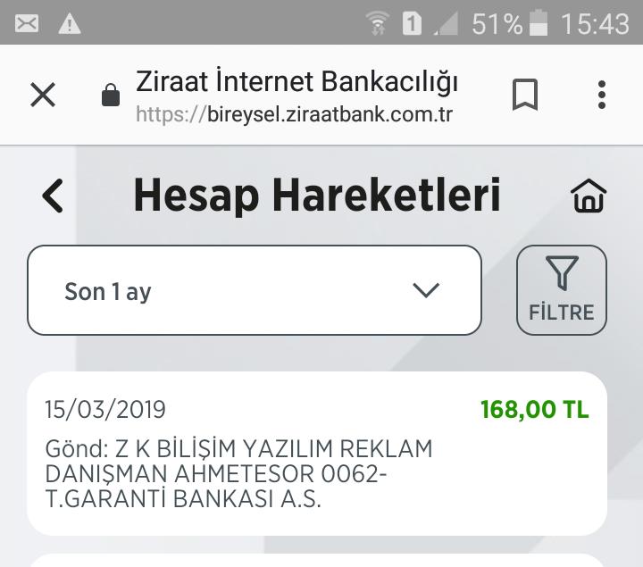 Ahmet'e sor sitesinde Mart ayının ödemesini aldım Ahmet'e sor ve ekiplerine teşekkür ederim dekort resimde?