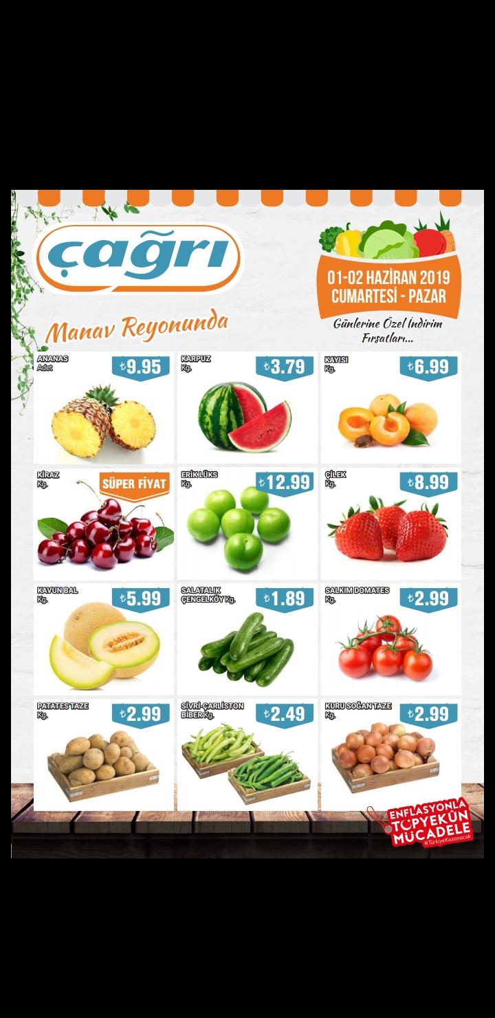 1-2 haziranda çağrı marketlerde manav indirimi var. Özellikle patates, soğan vs çok uygun. Haberiniz var mı? (Indirim kataloğu fotoda)